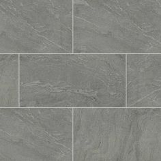 Ostrich Grey quartzite features beautiful grays and subtle veining. This gorgeous tile line offers an incredible textured look in several sizes, including new 12x24 gauged and honed options.
