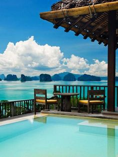 Six Senses Yao Noi resort in Phang Nga Bay near Phuket, Thailand has to be one of the most stunning places in the world. Best Honeymoon Destinations, Dream Vacations, Vacation Spots, Tourist Spots, Honeymoon Ideas, Honeymoon Special, Honeymoon Places, Honeymoon Packages, Travel Destinations