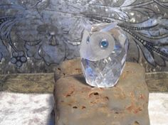 Retired Swarovski Crystal Owl Figurine Signed by LandofBridget