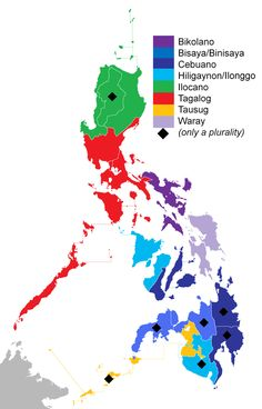 """pag-asaharibon: """" In the Philippines, there are between 120 and 175 languages, depending on the method of classification. Four languages no longer have any known speakers. Almost all the Philippine languages belong to the Austronesian language. Les Philippines, Philippines Culture, Philippines Travel, Philippine Map, Filipino Culture, Filipino Tattoos, Thinking Day, Tagalog, Palawan"""