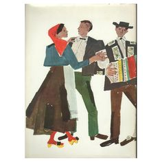 Kurt Wirth (Swiss, 1917-1996): Schweizer Trachten (Swiss traditional costumes)