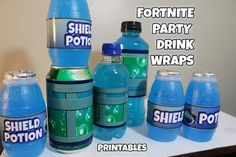 Fortnite Birthday Party Shield Potion and Chug Jug Printables