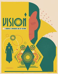 """""""Vision"""" by Matt Needle Marvel's Avengers: Age of Ultron Art Showcase now open at Hero Complex Gallery"""