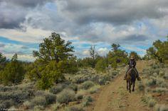 Deb takes to the trail at Brasada Ranch Resort in Central Oregon. #TravelOregon