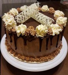 Cake Decorating Frosting, Plum Jam, Amazing Cakes, Chocolate Cake, Good Food, Cooking Recipes, Birthday Cake, Pudding, Sweets