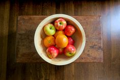 "12"" Wood Bowl in Birch - www.thisland.com"