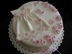 Christening Dress in Pink By Klaubok on CakeCentral.com