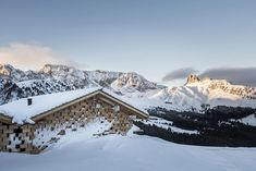 noa* (network of architecture) completes the renovation and expansion of the zallinger refuge at the seiser alm, or alpe di siusi, in the italian dolomites. Hotel Architecture, Architecture Photo, Amazing Architecture, Contemporary Architecture, Central Building, News Around The World, The Expanse, Pictures, Photos