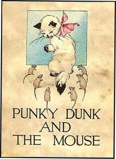 PUNKY DUNK AND THE MOUSE - Illustrator not named. Chicago: Volland - 1912.