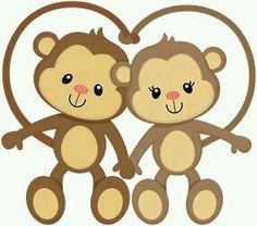 Love Wood Clipart monkey 3 - 286 X 253 Jungle Animals, Baby Animals, Cute Animals, Cute Images, Cute Pictures, Monkey Drawing, Monkey Tattoos, Cartoon Monkey, Cute Monkey