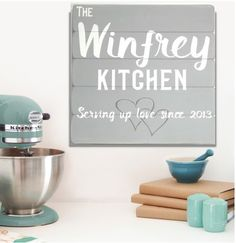 Personalized Kitchen Sign - Anniversary Gift