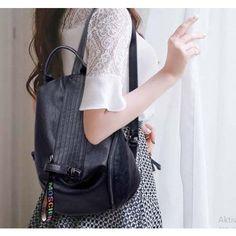 VALÓDI BŐR NŐI HÁTIZSÁK, VICENZA - LUXURY - KÉK Rebecca Minkoff, Leather Backpack, Backpacks, Luxury, Bags, Fashion, Handbags, Moda, Leather Backpacks