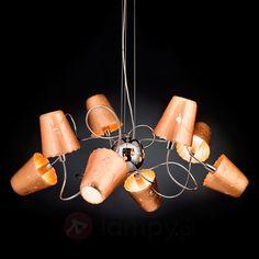 Kunsztowna lampa wisząca ARIA z 8 kloszami 6511183