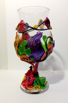 Mad Hatter Tea Party Polymer Clay Wine Glass by KellyArceDesigns on DeviantArt