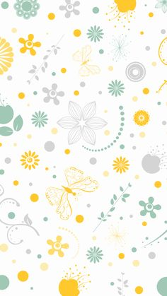 Butterflies in the flowers wallpaper. Flowers, Daisies, Butterflies, Yellow, Green, Lead, iPhone, Android, Backgrounds, HD, Sazum 2017.