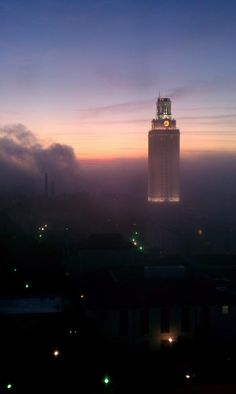 """Visit Austin Texas via KVUE-TV onto University of Texas at Austin notes """"Wonderful picture of the UT tower sent in to us from viewer Robert Torres this morning! Visiting Austin Texas, Visit Austin, Austin Tx, Texas Tourism, Texas Travel, Beautiful Places To Visit, Oh The Places You'll Go, Texas Land, Ut Longhorns"""