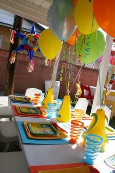 Sesame Street party table decor carolynhorteneven... via CarolynHortenEvents & Christmas Specialists onto Sesame Street Party~ CHE event