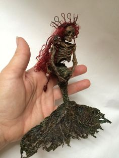 ooak dead skeleton mermaid fantasy princess by footstepsinthewind