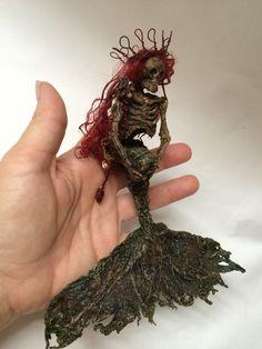 ooak dead skeleton mermaid fantasy princess by footstepsinthewind