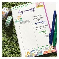 One of my #2017goals is to save some  this year.. and so, I made this tracker.. It's my first time to make a spread to track my savings.. and I'm hoping this will motivate me to achieve my goal! . . . #PlanWithMeChallenge #savingstracker #tracker #planner #bulletjournaling #bulletjournal #bulletjournalcommunity #bulletjournalnewbie #bujo #bujonewbie #bujocommunity #dailyhighlights #plannernewbie #plannercommunity #plannerlife #pentel #pentelbrushpen #pentelfudetouchsignpen #warrenbuffet
