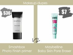 Makeup dupes: Smashbox Photo Finish primer dupe