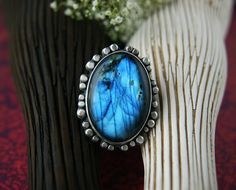 That Old Black Lightning - Labradorite Sterling Silver Ring