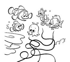 nemo and friends coloring pages - finding nemo dory and friends way street donald duck