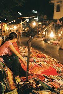 Night market  Luang Prabang, Laos
