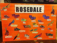 Team poster idea for the GOTR 5k. Girls got creative making their running shoe.