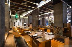 Songshan Culture and Creative Park Café & Souvenir Shop Korean Bbq Restaurant, Grill Restaurant, Teppanyaki, Cafe Bar, Interior Design, Grilled Meat, Retail Shop, Furniture, Taiwan