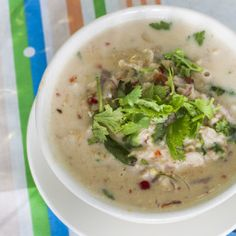 Our family loves this soup. It seems to help fight colds or at least cold symptoms, but we like it anytime, not just when we're sick! - Tom Ka Gai (Thai Chicken Coconut Soup)