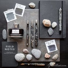 Today's Thursday Things: Onyx Grey will rock you! Click the link in our bio to find this collection of fountain pens, notebooks, and ink ideal for building the bedrock of your writing.