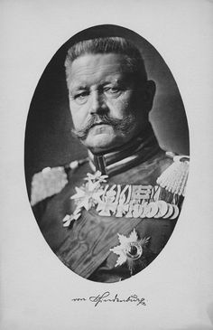 Germany. Field Marshal Paul von Hindenburg, 1914 WWI