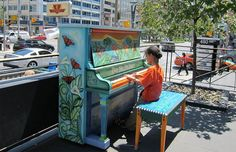 Artists Beautify Outdoor Pianos Around the World to Bring Music to the Streets - My Modern Met