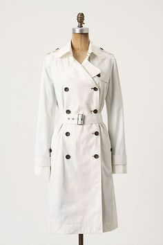 Whitewashed Trench / Anthropologie