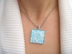 Glass Crafts — Tile Pendant Necklace - Craftfoxes