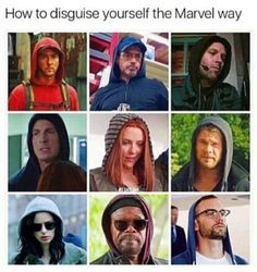 Put your hood on and maybe add some glasse, no one will recognize you.  Even though it's Marvel, they must have gone to the Superman school of disguise.