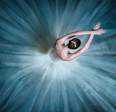 danseuse tutu long blanc