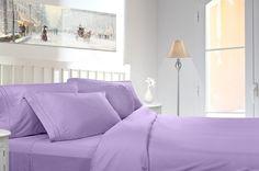 Clara Clark Egyptian Comfort 1800 Count 4 Piece Deep Pocket Bed Sheet Set.  Sizes: California King - King - Queen - Full - Twin XL - Split King - Queen Waterbed - RV Short Queen.