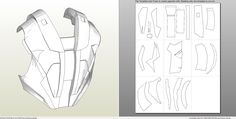 Papercraft .pdo file template for Iron Man - Mark 4 & 6 Full Armor +FOAM+.