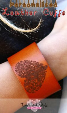 Best Seller - Personalized Wide Leather Cuff Bracelet, Engraved with Your Custom…