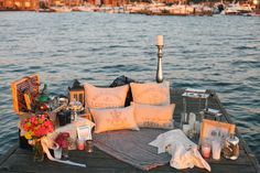 beautiful setting for a romantic proposal, styled by Kaleb Norman James Design