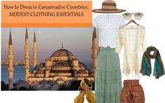 In case we visit a cathedral. Outfit Ideas for Conservative Countries http://travelfashiongirl.com/how-to-dress-for-conservative-countries-modest-clothing-essentials/