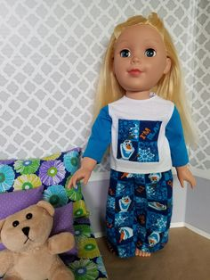 Do Ya Wanna Build a Snowman? Olaf Pajamas for 18 Inch Dolls!! by CreativelyEllie on Etsy