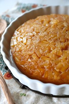 Lightened Up Pineapple Upside Down Cake - www.countrycleaver.com @countrycleaver