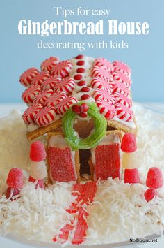 Tips for easy GingerBread House decorating with kids - NoBiggie.net