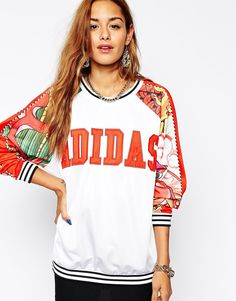 Image 1 of Adidas Originals X Rita Ora Dragon Sweatshirt