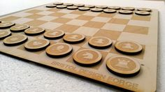 Minimal Chess Set Laser Cut Chess Set by BristolDesignForge