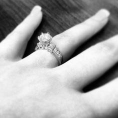 My engagement ring again! I'm slightly obsessed. My Engagement Ring, Wedding Planning, Wedding Rings, Jewelry, Jewlery, Jewerly, Schmuck, Jewels, Jewelery