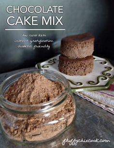 Low carb keto chocolate cake mix.